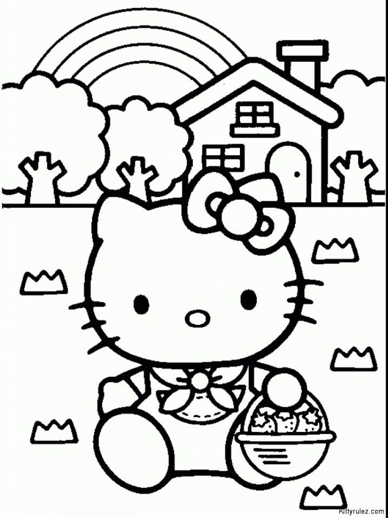 Hello Kitty Drawing Step By Step