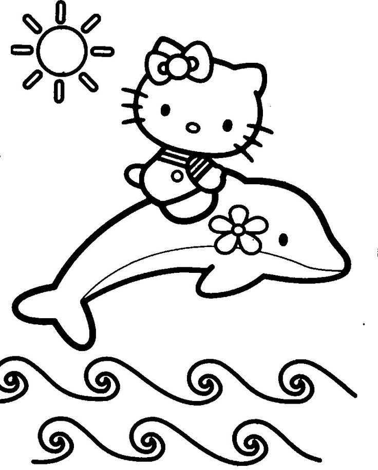 736x913 Kitty Coloring Page Pages Pinterest Drawing