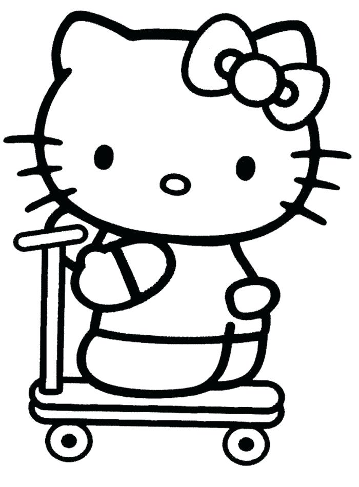 700x950 Printable Hello Kitty Coloring Pages Roller Skate Hello Kitty