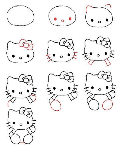 400x500 Draw Hello Kitty Hello Kitty, Kitty And Drawings
