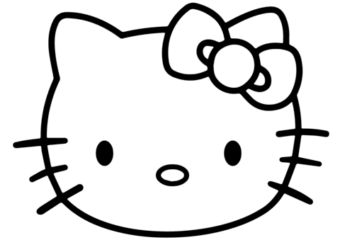 480x339 Hello Kitty Face Coloring Pages Head