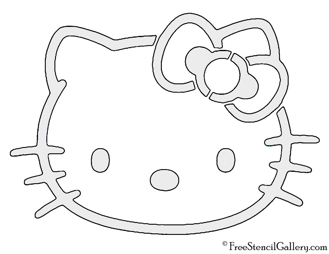 1100x850 Hello Kitty Stencil Free Stencil Gallery