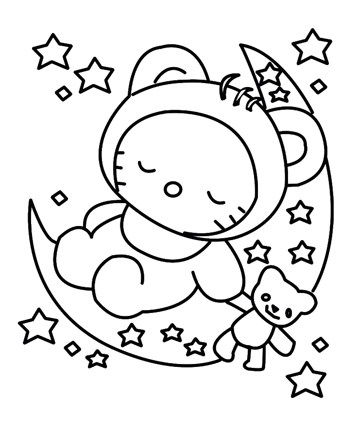 Coloring Pages 1100x850 Hello Kitty Stencil Free Gallery 700x893 To Draw