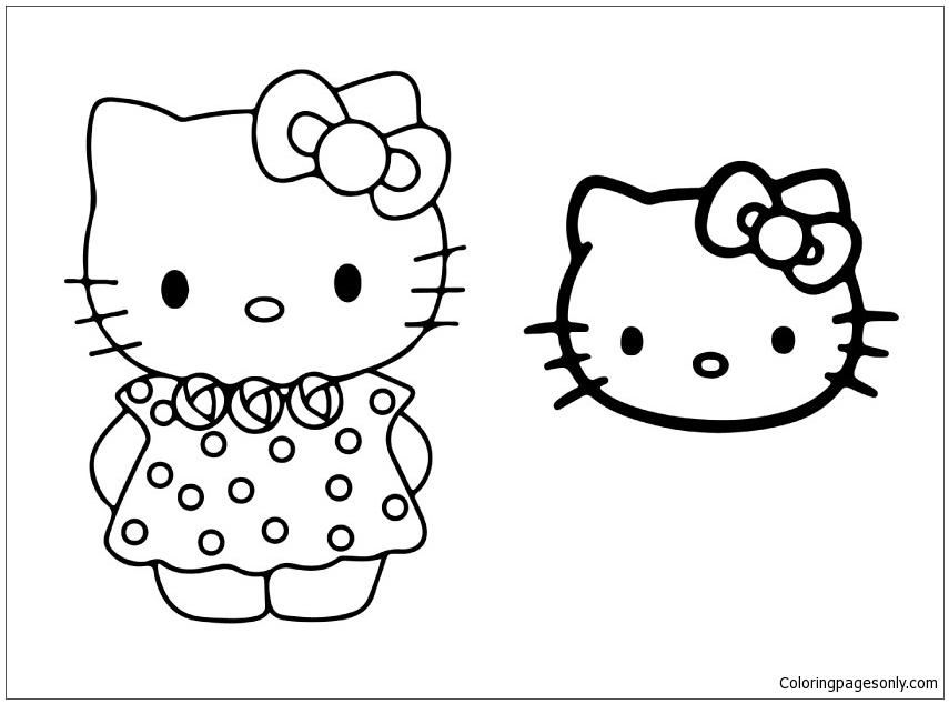Hello Kitty Face Drawing at GetDrawings | Free download