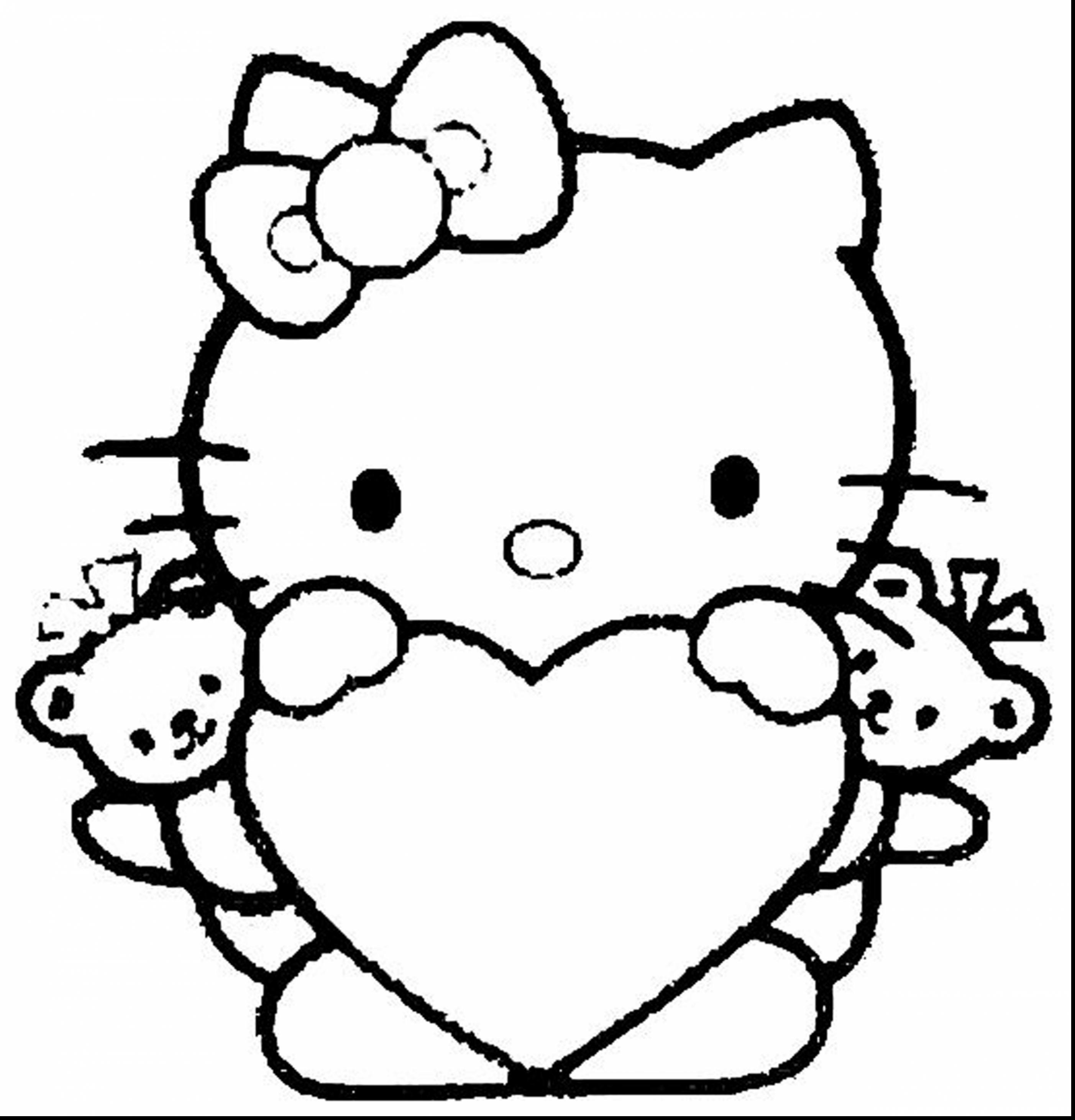2805x2921 Christmas Hello Kitty Coloring Pages For Kids Luxury Coloring