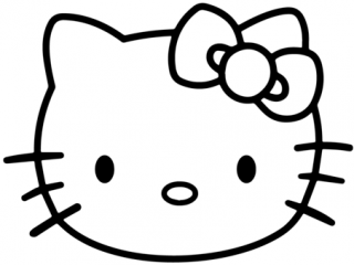 320x240 Printable Hello Kitty Pictures Face Coloring Page Free