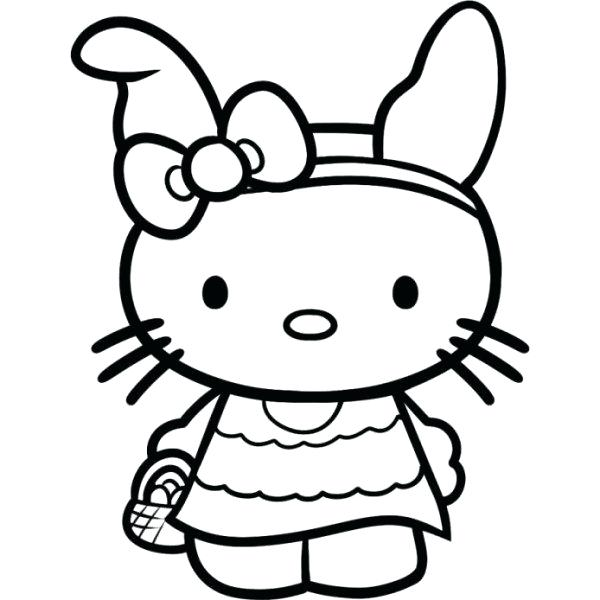 600x600 Color Pages Hello Kitty Coloring Free
