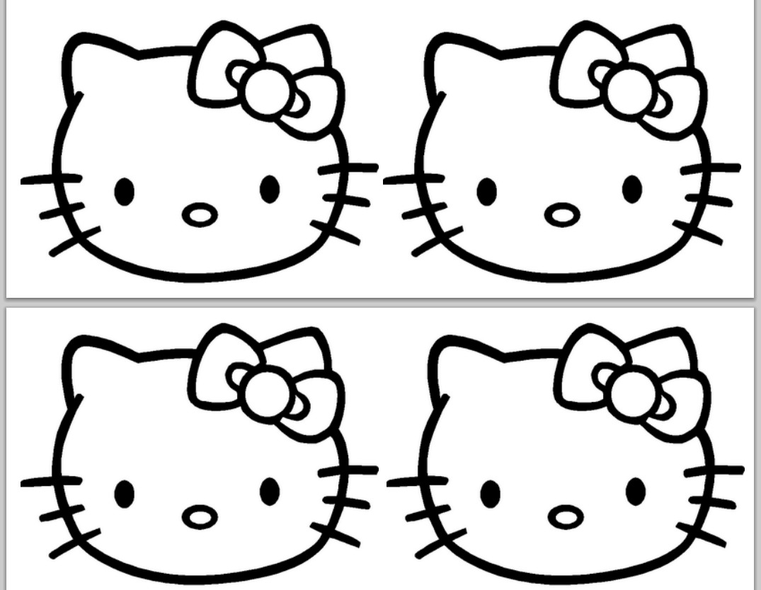 Hello Kitty Face Drawing At Getdrawingscom Free For Personal Use - Hello-kitty-free-coloring-pages