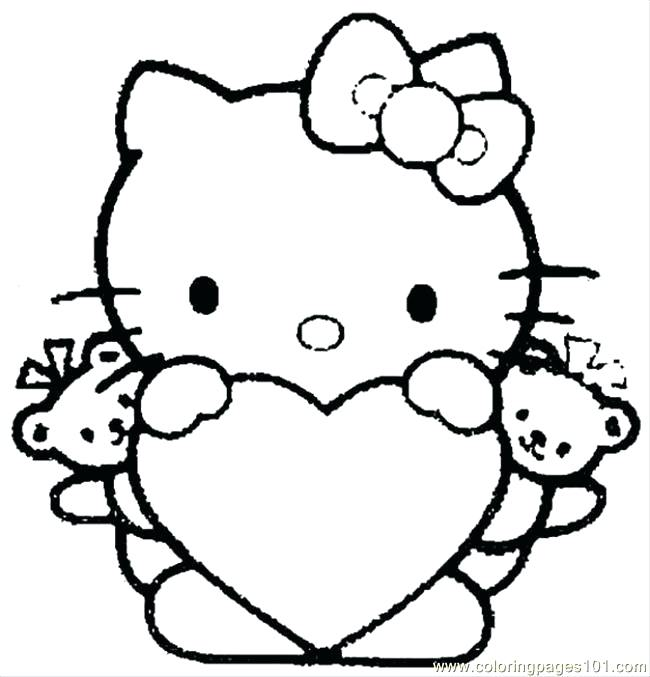 650x677 Coloring Pages For Hello Kitty Hello Kitty Coloring Pages Hello