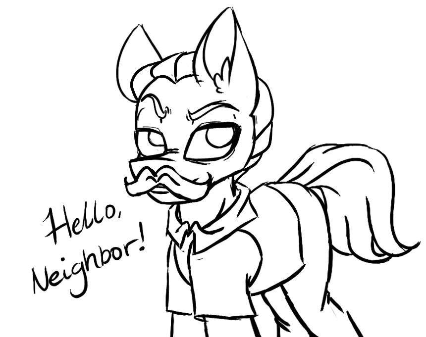 Hello Neighbor Drawing