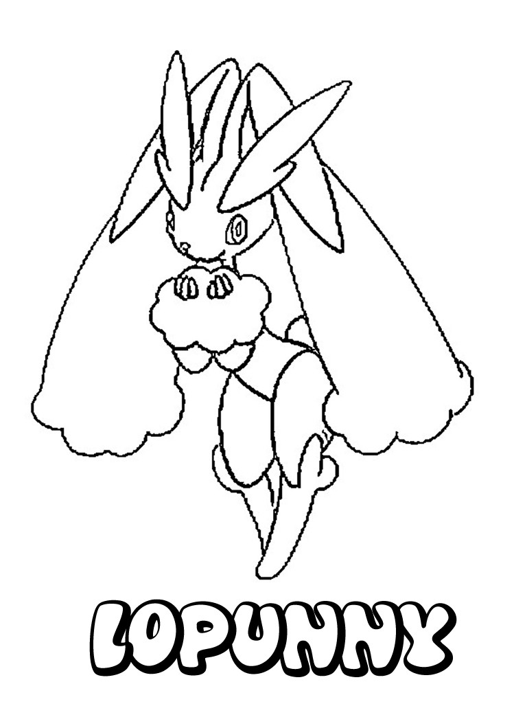 749x1060 Lopunny Pokemon Coloring Page. More Pokemon Coloring Sheets
