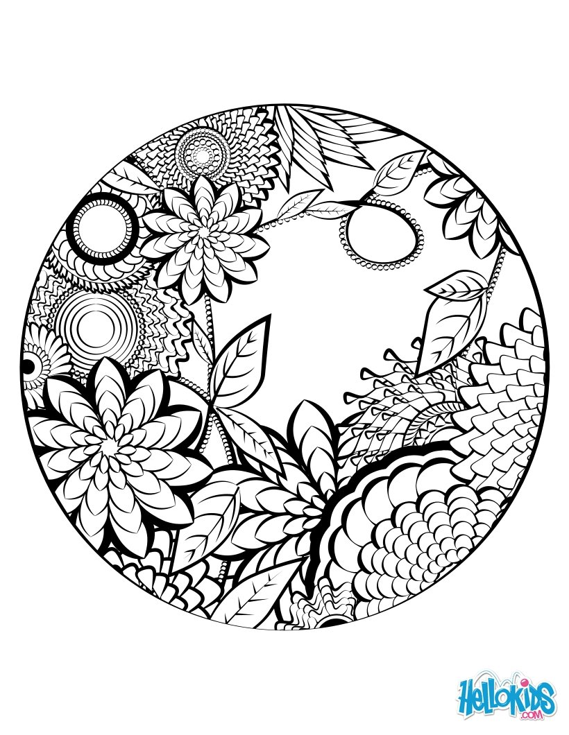 820x1060 Mandala Secret Garden Coloring Pages