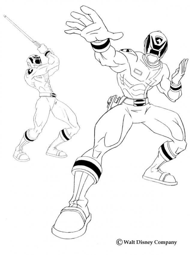 633x850 Power Ranger Fighting Coloring Page. More Tv Series Coloring