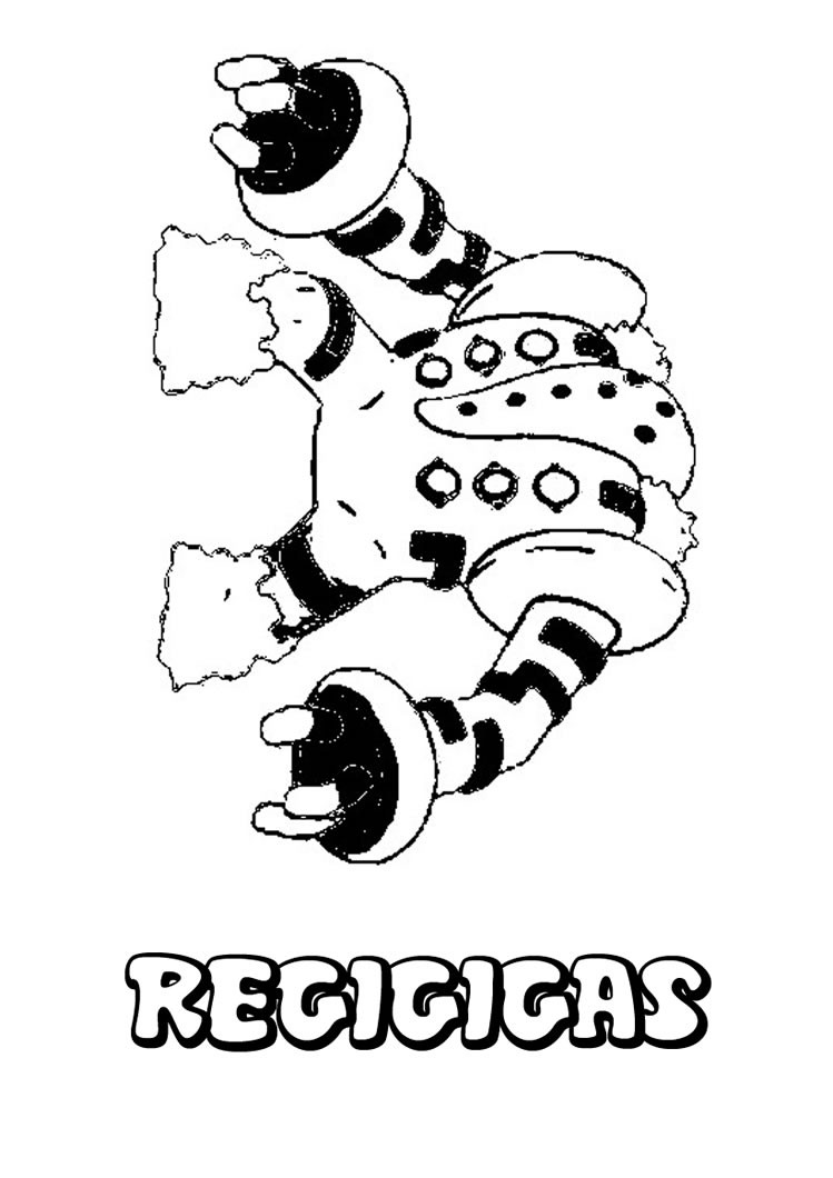 749x1060 Regigigas Pokemon Coloring Page. More Pokemon Coloring Sheets