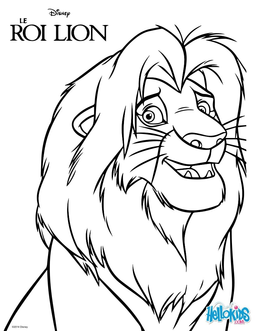 820x1060 The Lion King Simba Coloring Pages Hellokids Com New Page