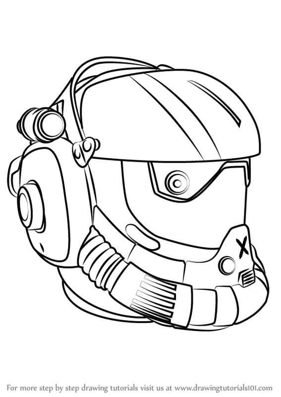 567x800 Learn How To Draw Viper Helmet From Titanfall 2 (Titanfall 2) Step