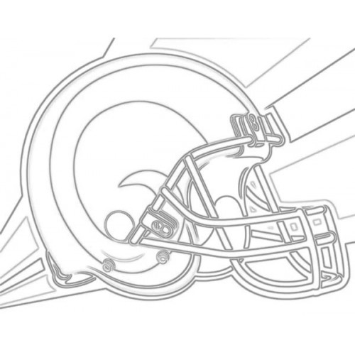 500x500 Louis Rams Helmet Sketch For Canvas Painting