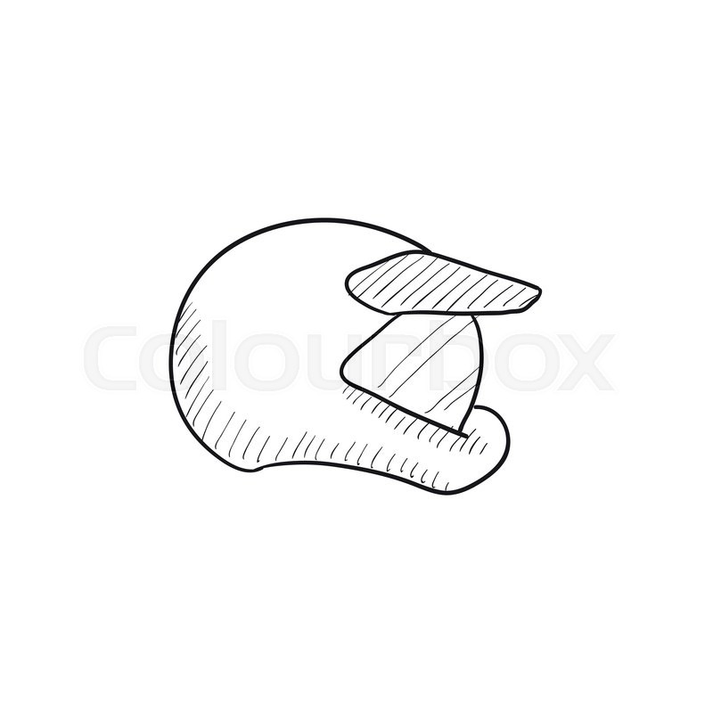 800x800 Motorcycle Helmet Vector Sketch Icon Isolated On Background. Hand