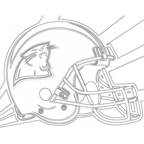 500x500 Panthers Helmet Sketch For Canvas Painting