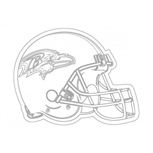 500x500 Ravens Helmet Sketch For Canvas Painting