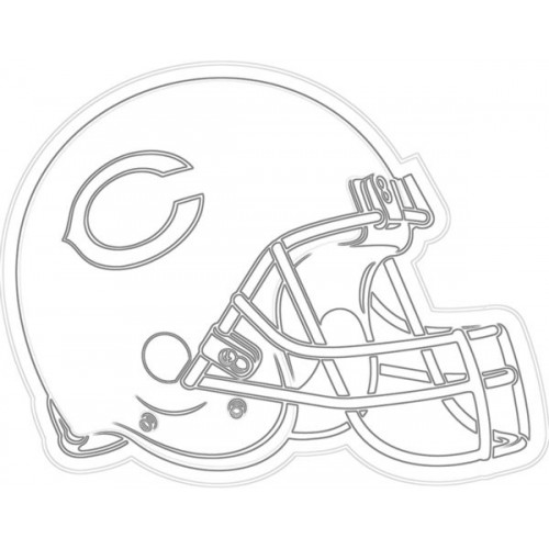 500x500 Bears Helmet Sketch For Canvas Painting