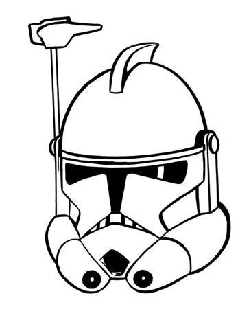 366x466 Drawing An Arc Trooper Helmet