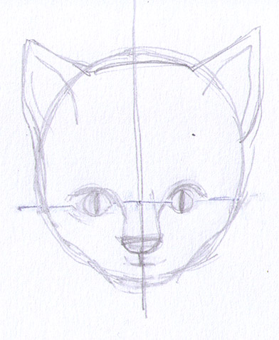 392x477 How To Draw A Cat
