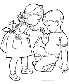236x288 Helping Others Sunday Schoo Coloring Page FromThru The Bible