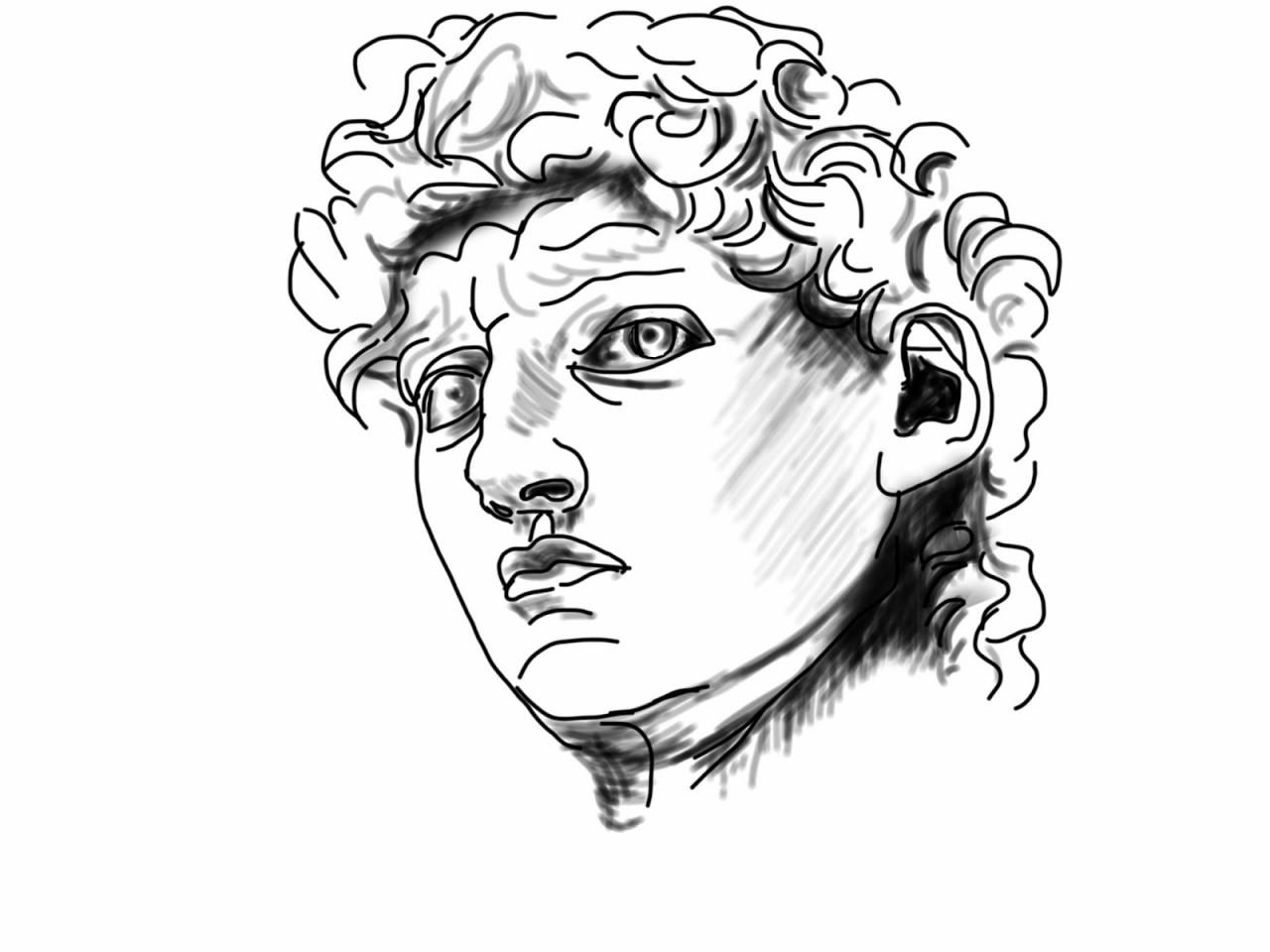 1280x960 No David Coloring Faces The Helpful Art Teacher Drawing
