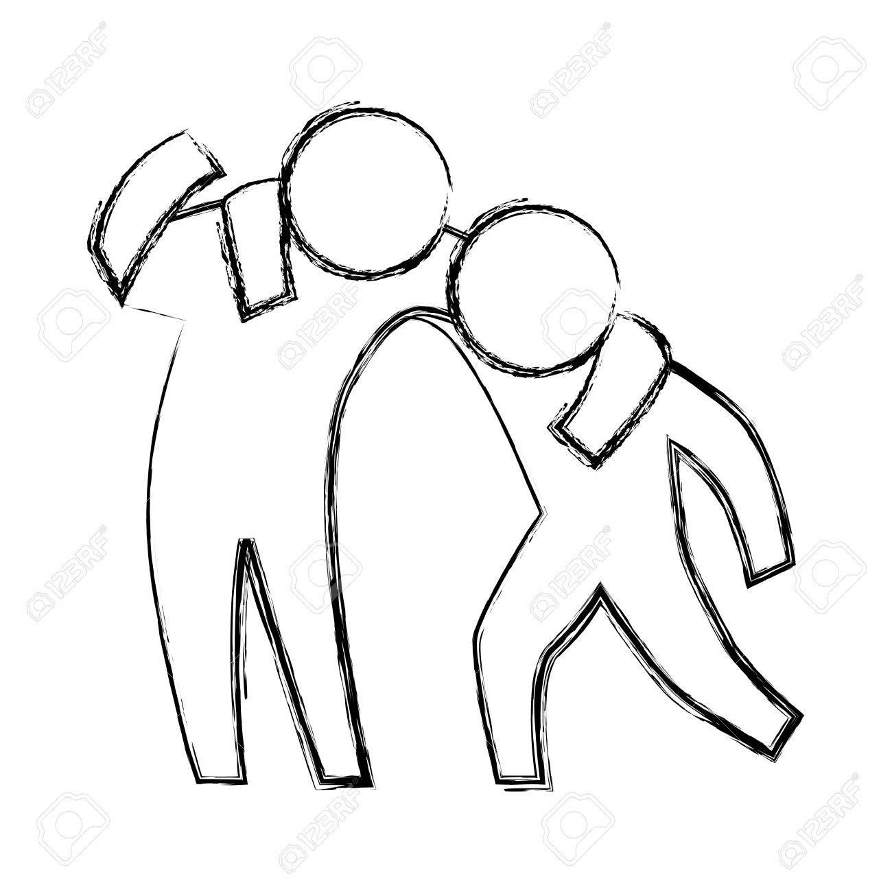 1300x1300 Person Helping Someone Icon Vector Illustration Graphic Design