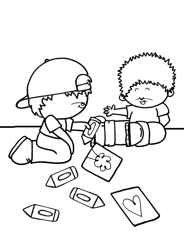 600x776 Drawing Together Helping Others Coloring Pages Coloring Sky
