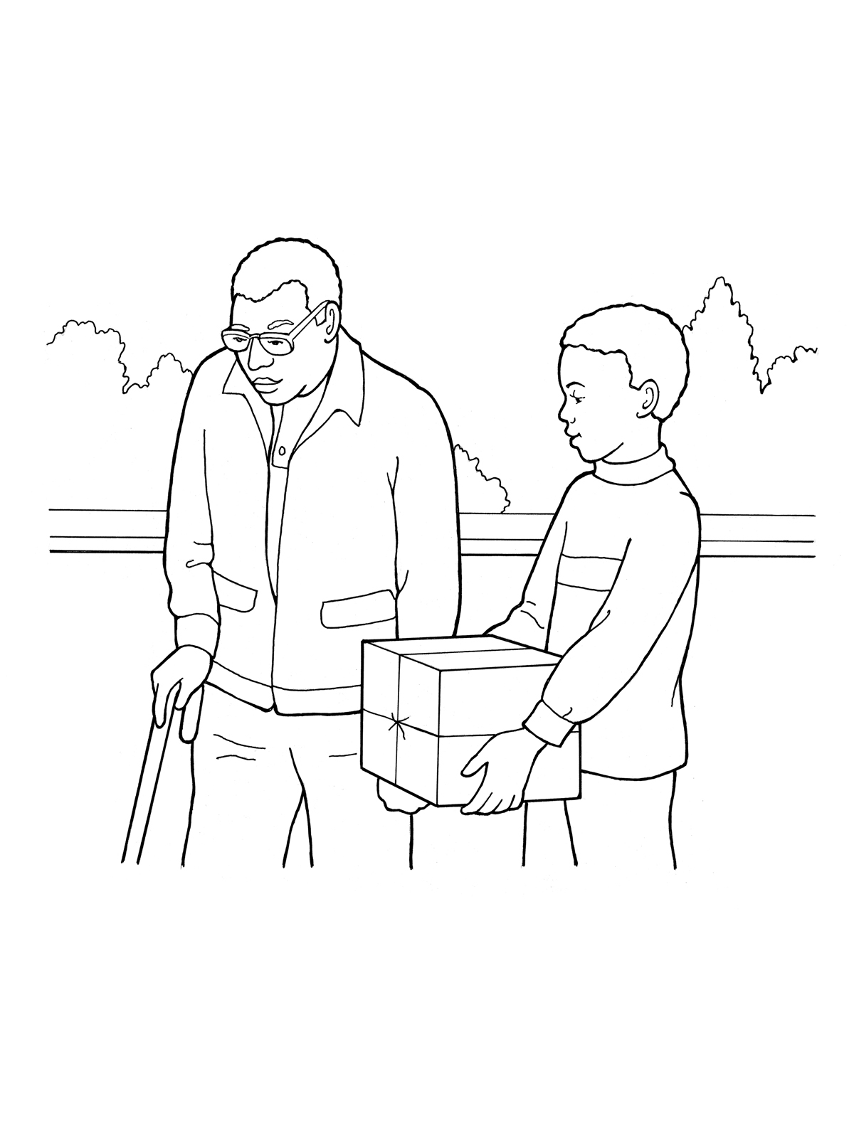 1200x1600 Grandfather Being Helped By His Grandson