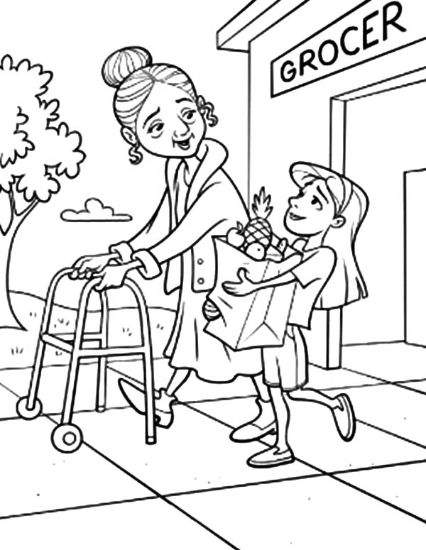600x775 Helping Coloring Pages