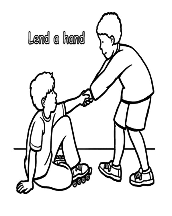 600x753 Lend A Hand Helping Others Coloring Pages Lend A Hand
