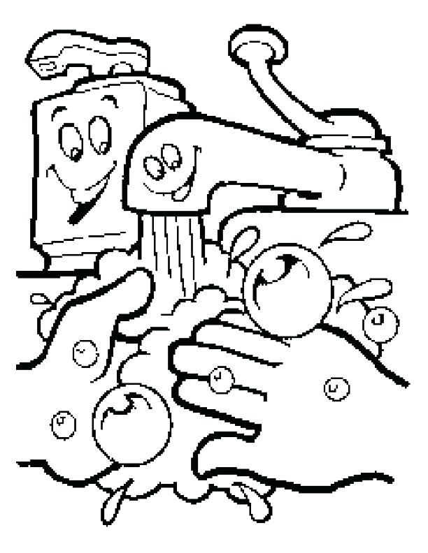 612x792 Coloring Page Of A Hand Printable Coloring Pages Of Hands Showing