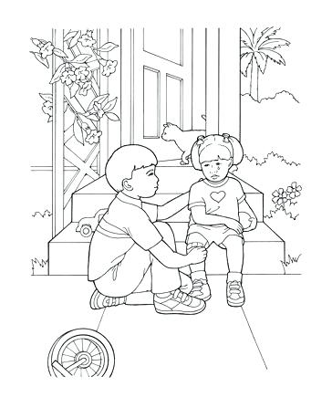 364x447 Helping Others Coloring Pages Pictures Of