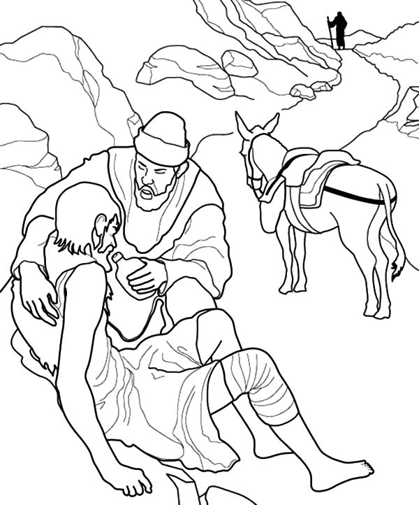 600x722 Helping Others Dying Thirsty People Coloring Pages Helping Others