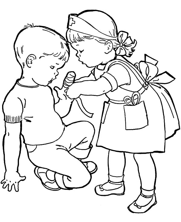 kids helping kids coloring pages - photo#37