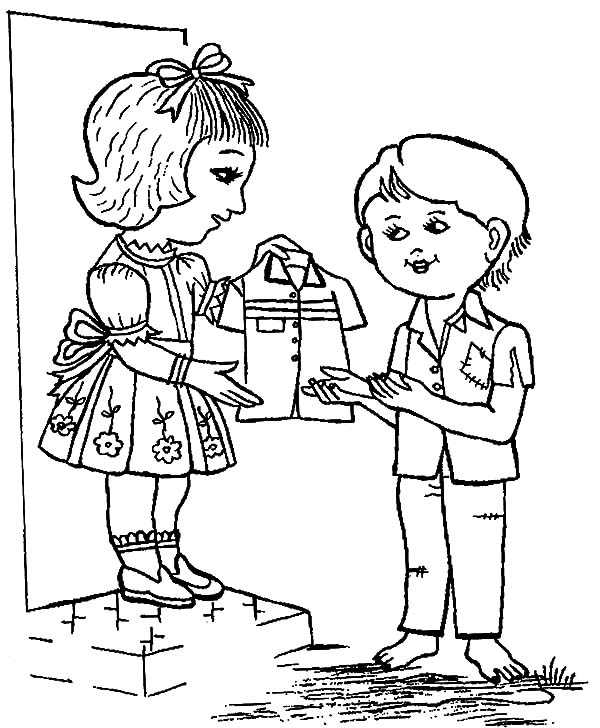 600x728 Share Your Unused Clothes On Helping Others Coloring Pages