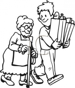 258x300 Helping Clipart Black And White