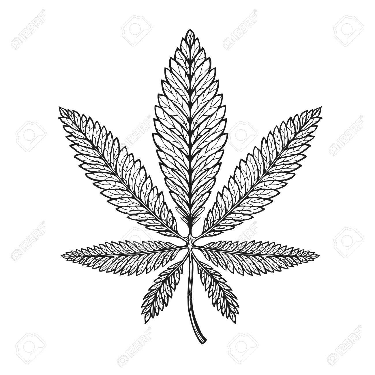 1300x1300 Marijuana Ethnic Graphic Style. Cannabis, Marihuana Hemp Symbol
