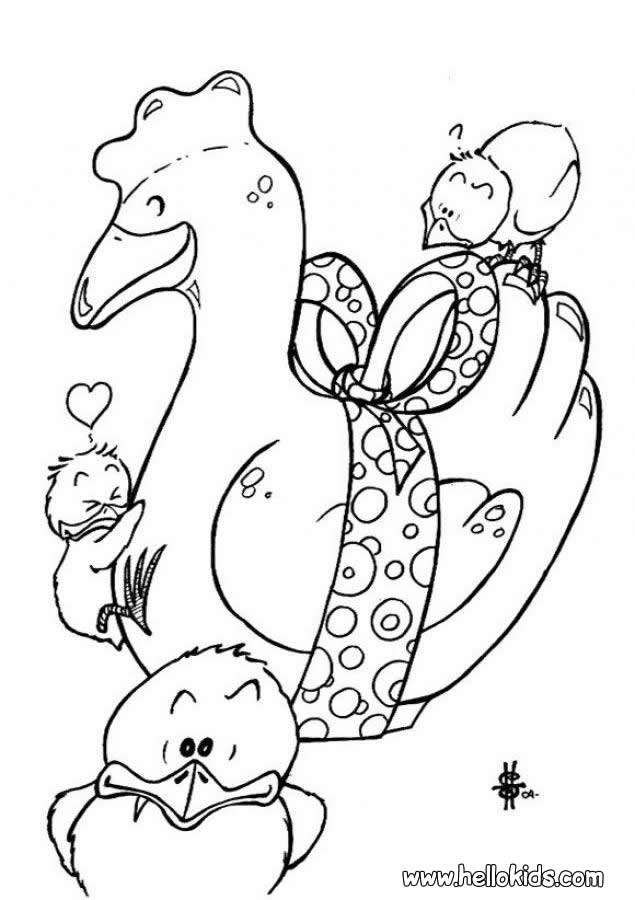635x900 Milk Chocolate Hen And Chicks Coloring Pages