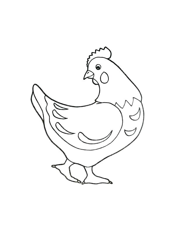 600x776 Hen Coloring Pages