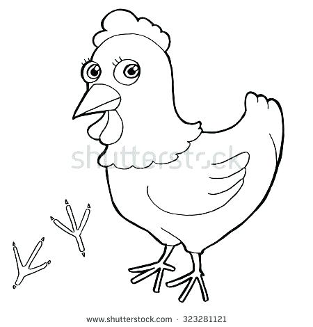 450x470 Chicks Coloring Pages Hen Coloring Pages Hen With Paw Print