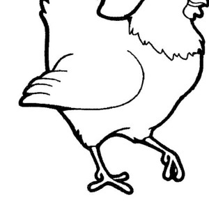 300x300 Hen Going To Shopping Coloring Page Coloring Sky