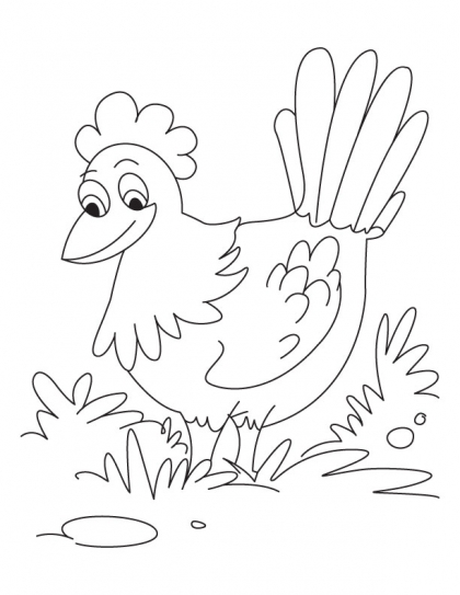 420x543 Me Pretty Hen Coloring Pages Download Free Me Pretty Hen