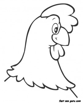 271x338 Print Out Farm Hen Face Coloring Book Pages