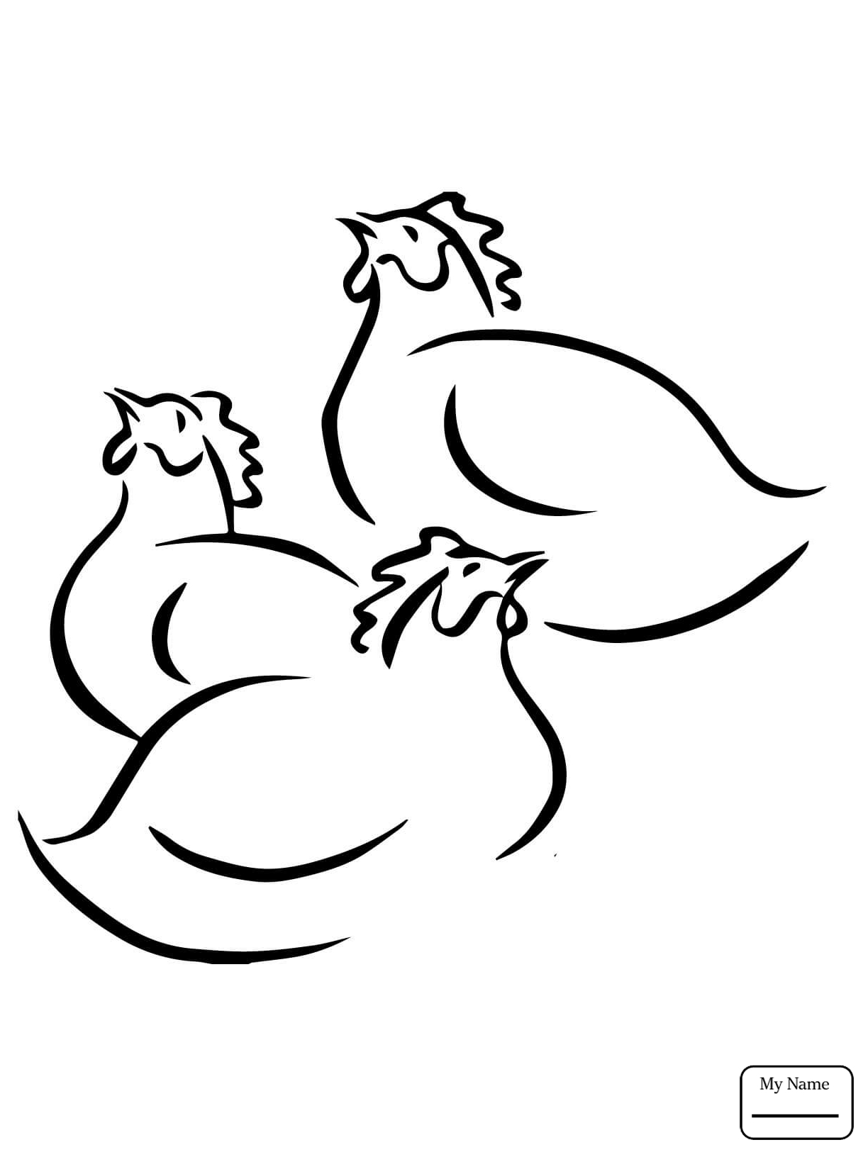 1224x1632 Chicken Guinea Fowl Or Hen Birds Coloring Pages Azcoloring.club