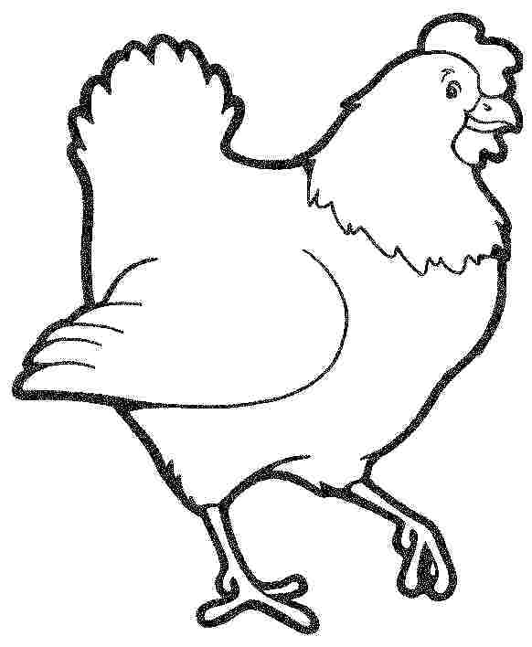 582x708 Hen Coloring Pages Hen How To Draw A Hen Coloring Page Little Red