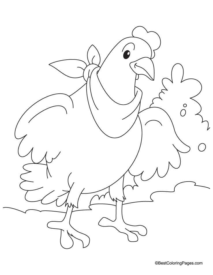 738x954 Hen Coloring Pages